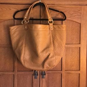 Neiman Marcus large woven tote